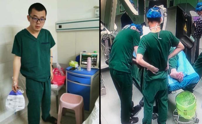 打止疼針做完手術后,醫生被抬上手術臺