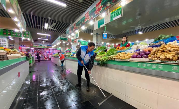 视频直播丨上海全市各菜市场进行全面消毒,关闭活禽交易