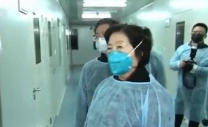 孫春蘭在武漢考察新型肺炎疫情防控工作,慰問一線防控人員