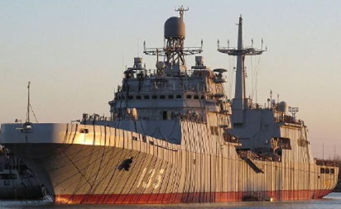 """俄海軍第二艘""""伊萬·格連""""級大型登陸艦再次進行海試"""