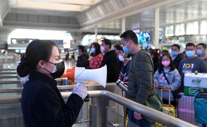 元宵節全國共發送旅客1124.2萬人次,比去年下降84%