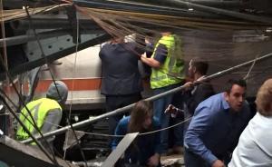 美一火车在新泽西车站发生撞车事故,可能有超过100人受伤