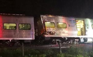 美国纽约长岛发生列车脱轨事故,造成50至100人受伤