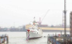 """海军新一代战舰""""德阳舰""""下水:信息化程度高,隐身性能好"""