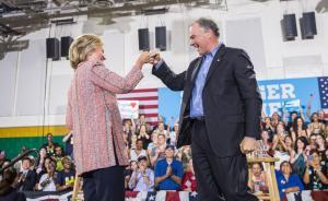 希拉里选定卡因参议员做竞选搭档,曾做传教士、州长