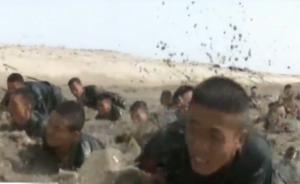 武警新疆总队沙漠训练,训练反恐作战