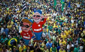 奥运开幕前5天,上万巴西民众上街抗议要求总统下台