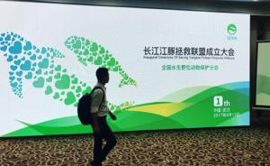 社会化参与拯救长江江豚里程碑:长江江豚拯救联盟在武汉成立