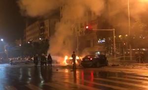 英菲尼迪连撞5车致燃烧,一男一女死亡
