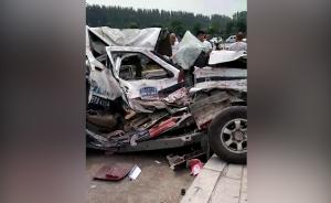 驻马店:执法车与货车相撞城管1死2伤