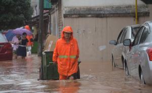 今天湖南南部局地仍有暴雨,强降雨落区位于湘江上游