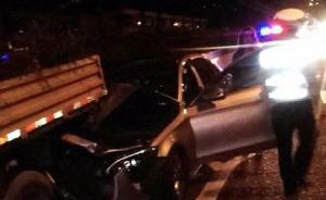 杭州涉醉驾司机凌晨高架桥上追尾施工车,致工人跌落脊椎骨折