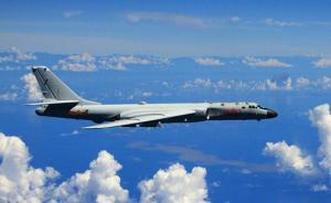 台防务部门:解放军4架轰6本月第3次绕飞台湾