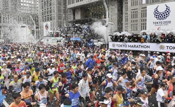 """東京馬拉松發放""""手術口罩"""",建議發燒咳嗽選手不要參賽"""