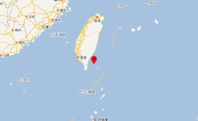 臺灣臺東縣海域發生4.2級地震,震源深度20千米