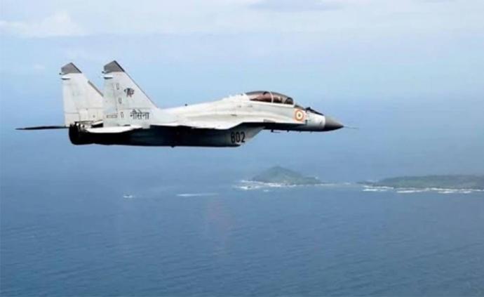 印海军一米格-29K在训练时坠毁,同机型三个月前也曾坠毁