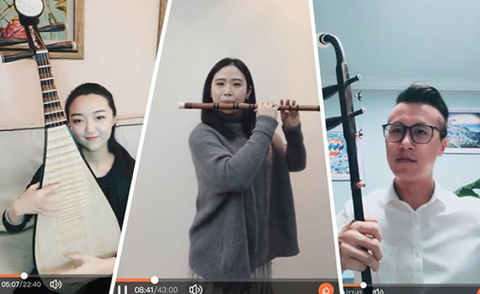 """没有演出的日子里,上海民族乐团有人转行当起了""""主播"""""""