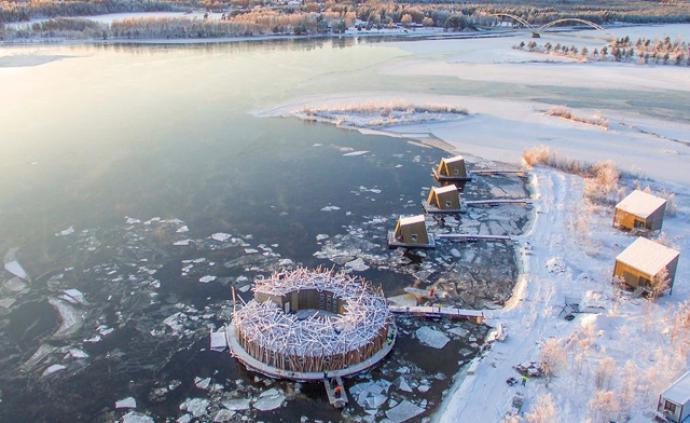 瑞典新开漂浮酒店,让你浮在冰上看极光