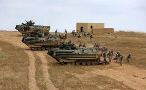 美海军陆战队训练中两栖装甲车起火:15名士兵烧伤