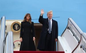 美国总统特朗普抵达北京,开始对中国进行国事访问