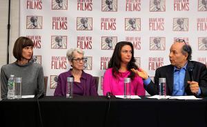 """当地时间2017年12月11日,美国纽约,三位女性召开新闻发布会,指控特朗普曾对其有""""不正当性行为""""。其中一位曾在特朗普大楼内担任接待员。视觉中国 图"""