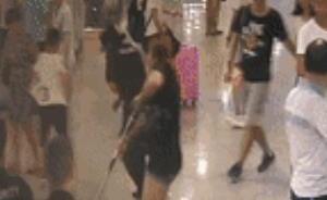 长沙一女子带氢气球过地铁安检遭拒,掌掴安检员被拘10天
