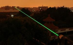强力激光手电热销:照火柴一秒点燃,达一定强度或致失明