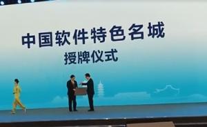 """首届数字中国峰会发布活动上福州被授予""""中国软件特色名城"""""""
